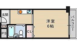 南堀江レヂデンス[603号室]の間取り