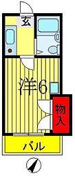 コーポ松英[1階]の間取り