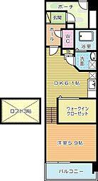 福岡県北九州市小倉南区守恒本町2丁目の賃貸マンションの間取り