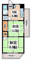 長田ハイツ[5階]の間取り