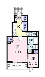 H.T.ミニョンIII[1階]の間取り