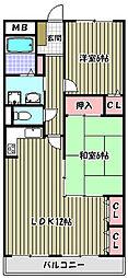 ティーズガーデン[3階]の間取り