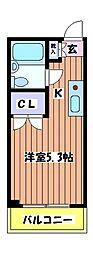 パークアベニュー桜[3階]の間取り