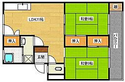 広島県安芸郡府中町みくまり3丁目の賃貸マンションの間取り