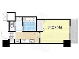 ファーストステージ江坂広芝町2 7階1Kの間取り