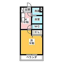 ハミング愛野[3階]の間取り