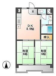 愛知県名古屋市熱田区一番3丁目の賃貸マンションの間取り
