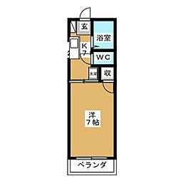マーブルハイツ[1階]の間取り