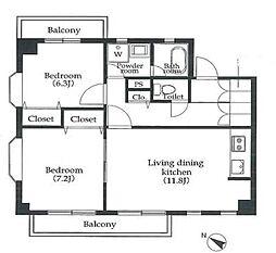 エスプラナード中目黒二番館[3階]の間取り