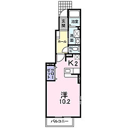 ラ・フルール B[1階]の間取り