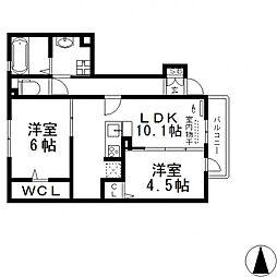 メゾンド・和[107号室号室]の間取り