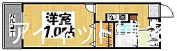 JR鹿児島本線 九産大前駅 徒歩10分の賃貸アパート 2階1Kの間取り