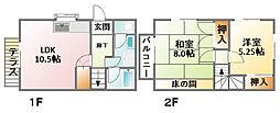 [テラスハウス] 千葉県東金市山口 の賃貸【/】の間取り