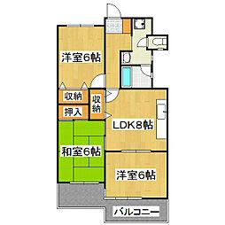 大翔第一ビル[7階]の間取り