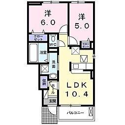 上野町アパート A棟[0102号室]の間取り