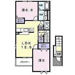 オーキッド・K[2階]の間取り