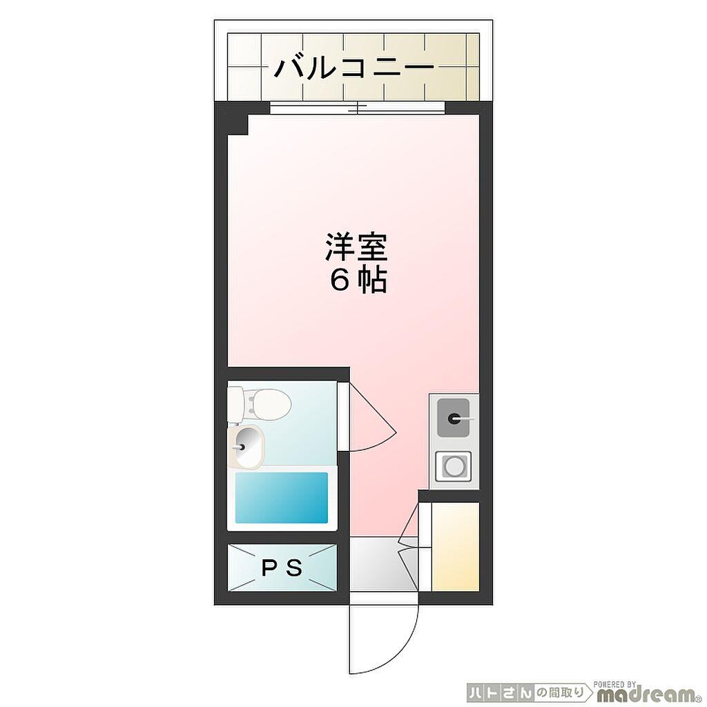 間取り(メゾン・ド・ノア天神町 間取り図)