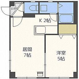 北海道札幌市北区新琴似六条1丁目の賃貸マンションの間取り
