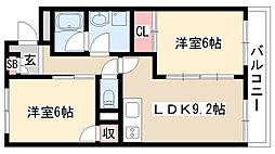 愛知県名古屋市天白区原3の賃貸マンションの間取り