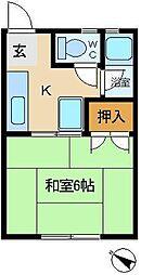 コーポ石黒[2階]の間取り