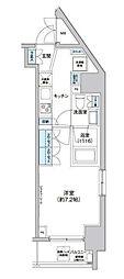 クレヴィアリグゼ西新宿[801号室]の間取り
