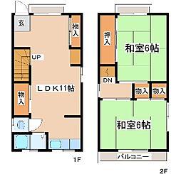 [一戸建] 兵庫県神戸市中央区八雲通5丁目 の賃貸【/】の間取り