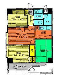 ノアパレス中央[3A号室]の間取り