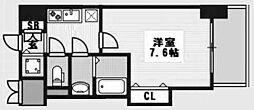 ラグゼ新大阪IV[707号室]の間取り
