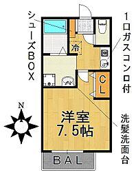 愛知県名古屋市千種区希望ケ丘1丁目の賃貸アパートの間取り