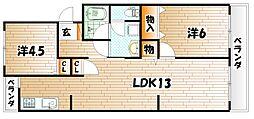 プレジデントタカヤ[4階]の間取り