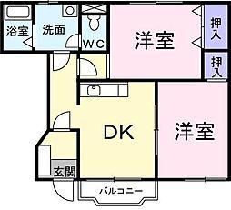 アグレブル北吉田[103 号室号室]の間取り
