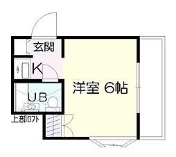 ユースランドB棟[2階]の間取り