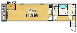 ルアン清水丘[1階]の間取り