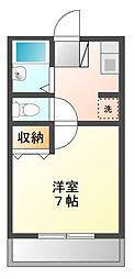 ツインリーブスA[2階]の間取り