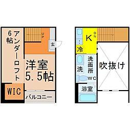 愛知県名古屋市中村区大正町2丁目の賃貸アパートの間取り