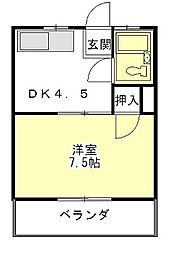 サンシティ上浜[3階]の間取り