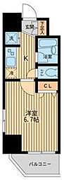 レジディア蒲田III[4階]の間取り