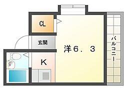 扇ハイツ[2階]の間取り