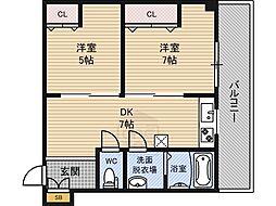 マンション樅[306号室]の間取り
