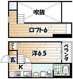 レオーネ西小倉[2階]の間取り