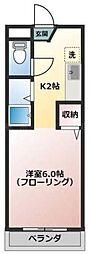 ルートワン石田[2階]の間取り