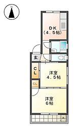 ナゴヤ聖マンション[4階]の間取り