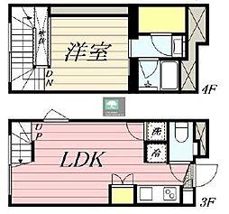 PASEO新宿3丁目2 3階1LDKの間取り