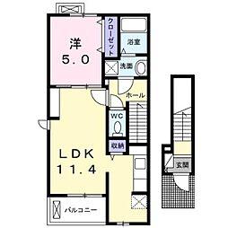 アーバン・フォレストⅢA棟[2階]の間取り