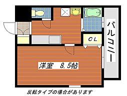 広島県広島市南区宇品神田1丁目の賃貸マンションの間取り