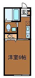コーポ片平[2階]の間取り