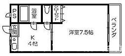 BIZAN21[3階]の間取り