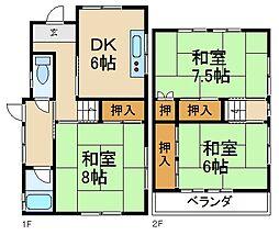 [テラスハウス] 大阪府寝屋川市成田南町 の賃貸【/】の間取り