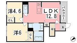 仮)苫編新築アパート[102号室]の間取り