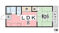 上野ハイツ[207号室]の間取り